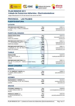 Listado de Comercios Adheridos - Electrodomésticos