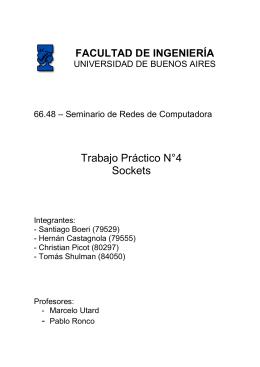 Tp 4 (Winsock App.) - Facultad de Ingeniería