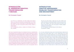 introducción. el despertar creativo: transformación y