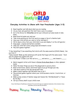 Everyday Activities to Share with Your Preschooler (Ages 3-5)