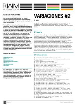 VARIACIONES #2 - RWM