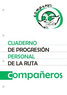 cuaderno de progresión personal de la ruta