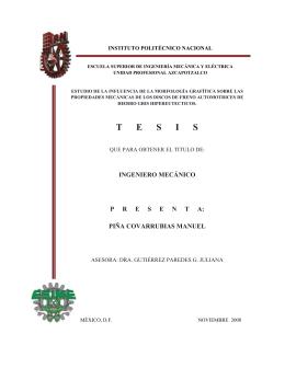 T      E      S      I      S - Instituto Politécnico Nacional