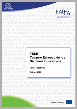 Tesauro Europeo de los Sistemas Educativos - EACEA