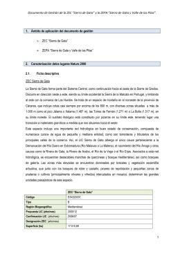 """Documento de Gestión de la ZEC """"Sierra de Gata"""