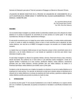 PLANEAMIENTO DIDACTICO - Universidad Nacional Autónoma de