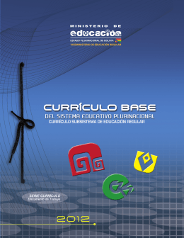 Curriculo base del SEP - Ministerio de Educación