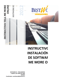instructivo para instalación y uso de software tell me more online.