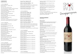 Smageprogram - L`Esprit du Vin