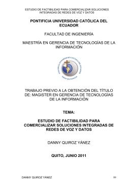 estudio de factibilidad para comercializar soluciones integradas de