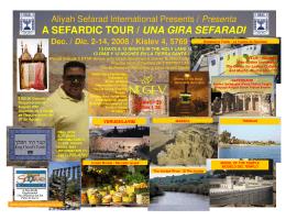 ASI Sefardic Tour 2008