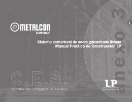 Sistema estructural de acero galvanizado liviano Manual