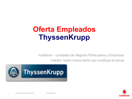 Vodafone PowerPoint template