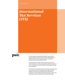 International Tax Services (ITS)
