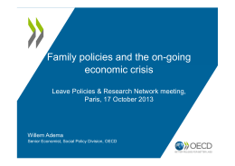 Family policies and the on-going economic crisis