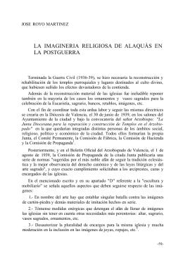 LA IMAGINERIA RELIGIOSA DE ALAQUÀS EN LA POSTGUERRA