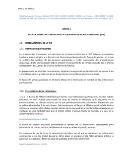 Anexo 1 - Banco de México