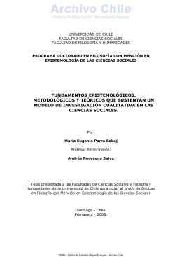 Fundamentos epistemológicos, metodológicos y