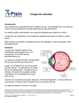 Cataract Surgery (Spanish) - Patient Education Institute