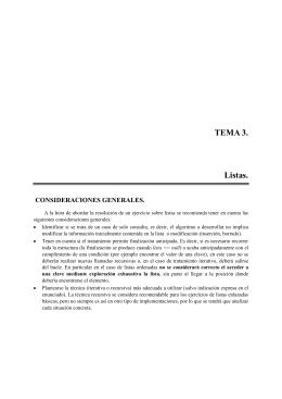 TEMA 3. Listas.