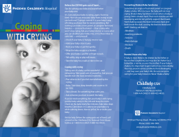 Before the CRYING gets out of hand... Tips for calming your baby