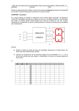 CIRCUITO LÓGICO - Universidad de Sevilla