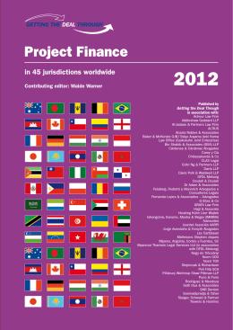 2012 Project Finance - Pillsbury Winthrop Shaw Pittman LLP