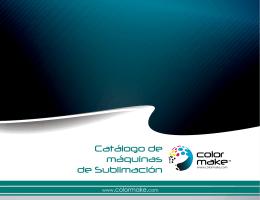 Catálogo de máquinas de Sublimación