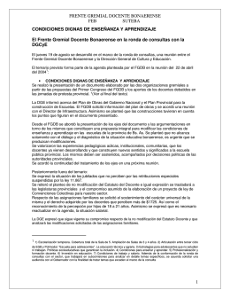 FRENTE GREMIAL DOCENTE BONAERENSE FEB SUTEBA 1