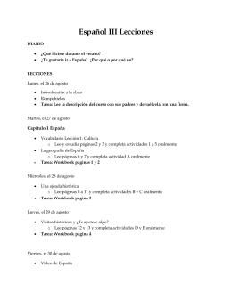 Español III Lecciones - Chaparral Star Academy
