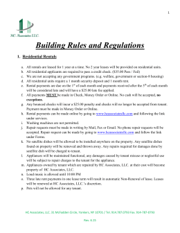 Building Rules and Regulations