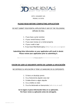 please read before completing application favor