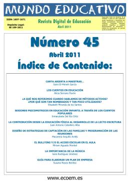 Mundo Educativo, Número 45 (29-04-2011)