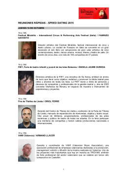 PRESENTACIONS 2014 - Fira Mediterrània de Manresa