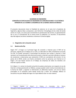 El Desarrollo de la banda ancha en México