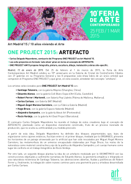 ONE PROJECT 2015: ARTEFACTO
