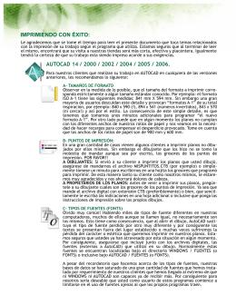 IMPRIMIENDO CON ÉXITO: AUTOCAD 14 / 2000 / 2002 / 2004