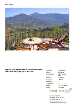 Popular hotel agroturismo con restaurante en la Serra de