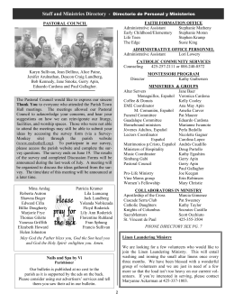 Nails and Spa by Vi Our bulletin is published at no cost to the parish
