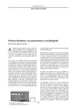 El Nuevo Brutalismo - Departamento de Composición Arquitectónica