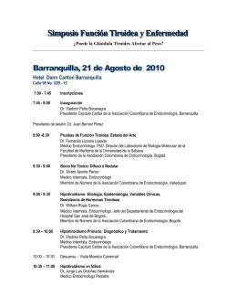 Programa Científico - Asociación Colombiana de Endocrinología