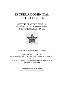 ESCUELA DOMINICAL R O S A C R U Z