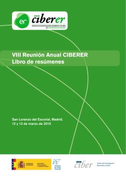 VIII Reunión Anual CIBERER Libro de resúmenes