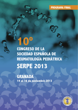 Programa Final Congreso SERPE Granada