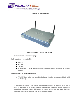 Manual de Configuracion SMC NETWORKS - Multitel