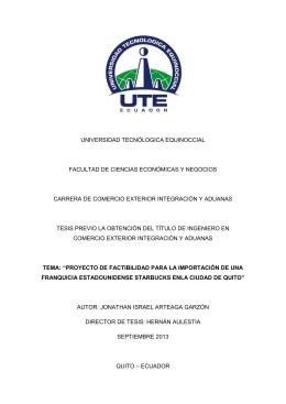 universidad tecnólogica equinoccial facultad de ciencias