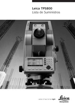 Leica TPS800 Lista de Suministros