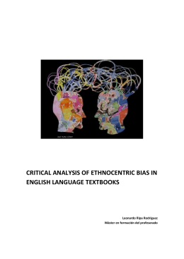critical analysis of ethnocentric bias in english - Academica-e