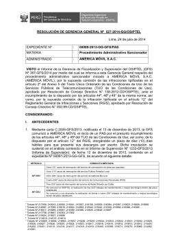 RESOLUCIÓN DE GERENCIA GENERAL Nº 527-2014-GG