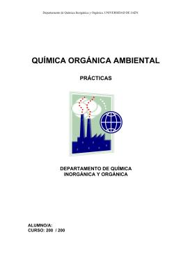 QUÍMICA ORGÁNICA AMBIENTAL